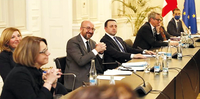 Recent meeting between Gov't and opposition, initiated by Charles Michel