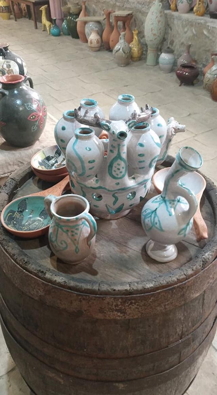 "Traditional wine-drinking vessel ""Marani"". By Ceramics Master Givi Tatulashvili"