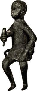 "Bronze Iron Age statue of the ""tamada"" (Toastmaster)"