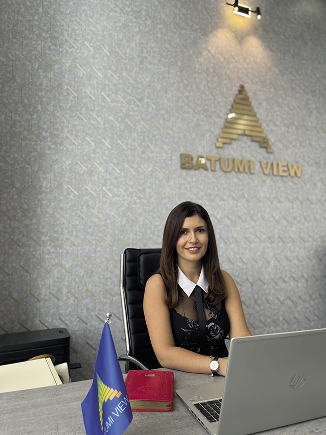 Irma Kamadadze. sales and marketing department head, Batumi View