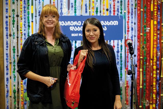 Carrefour PR Head Nino Ramishvili and GT Editor Katie Ruth Davies