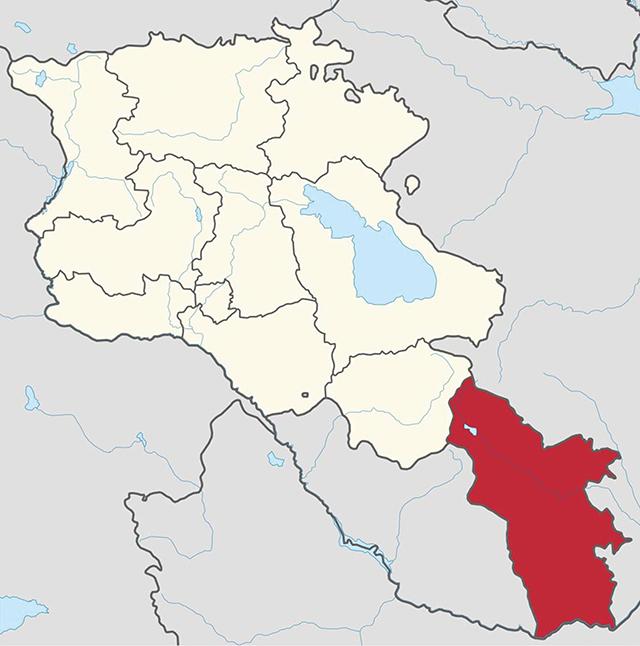 Syunik (Azerbaijani: Zangezur) Province of Armenia, which separates Nakhichevan and the rest of Azerbaijan